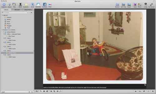 Aperture Caption Photo Viewer Mode