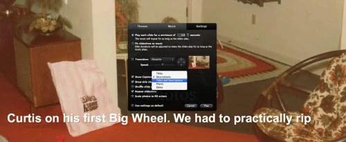 iPhoto Slideshow Show Captions and Descriptions