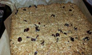 Cyclists Cranberry flapjack recipe.