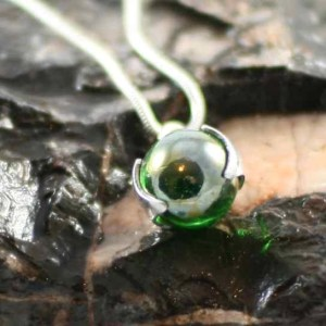 Comfort Bead: Iridescent Memorial Glass Bead Pendant