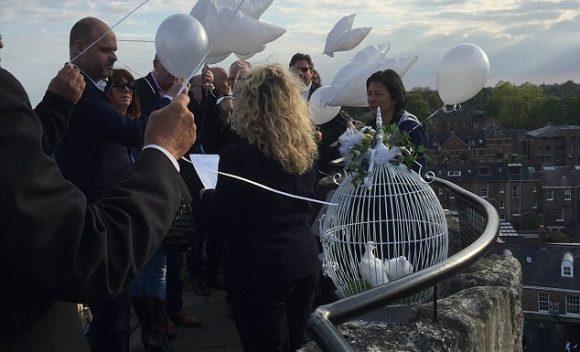 Celebrity ash scattering ceremony: David Gest