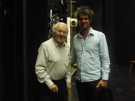 Wolfgang Wagner und Christoph Schlingensief, Generalprobe Parsifal III, Juli 2007