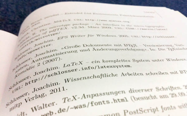 Literaturverzeichnis LaTeX-Buch
