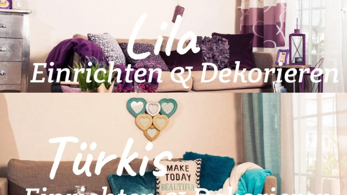 Collage Lila Türkis