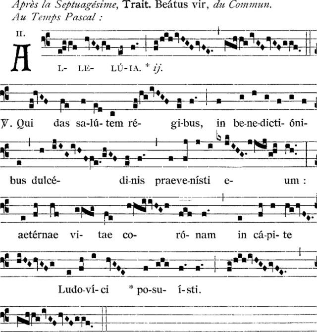 1er alleluia, au Temps Pascal, de saint Louis