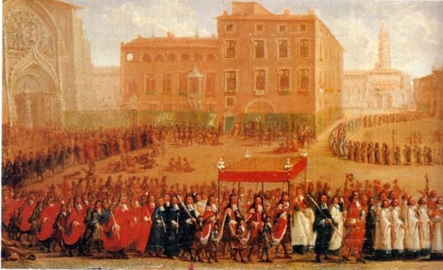 Fete-Dieu a Toulouse 1700