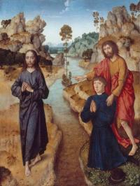 Le Christ & saint Jean Baptiste - école flamande