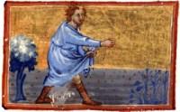 La parabole du semeur, sermons de Maurice de Sully, manuscrit du XIVème siècle
