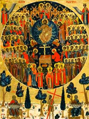 Programme du dimanche de tous les saints - ton 8