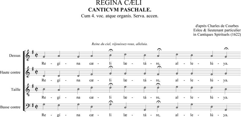 D'après Charles de Courbes - Regina cœli