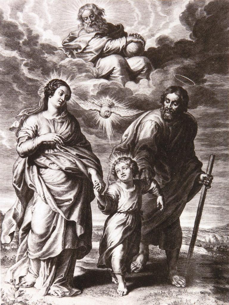 La sainte Famille - gravure de Schelte Adams Bolswert, d'après Rubens