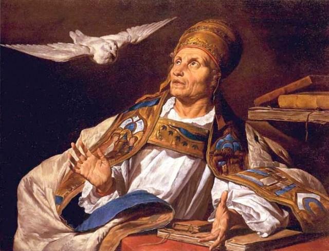 Saint Grégoire le Grand par Matthias Stom Öffentliche Kunstsammlung Bâle - XVIIème
