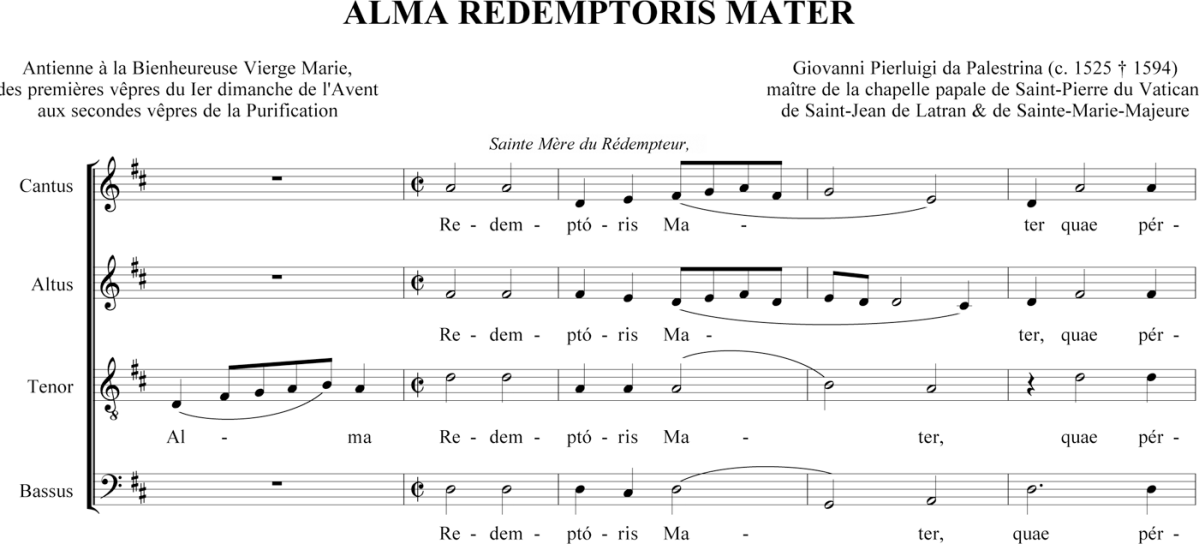 Palestrina - Alma Redemptoris Mater