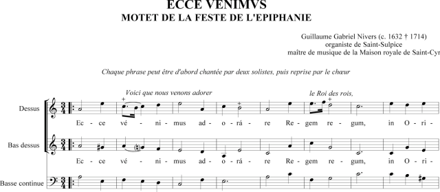 Guillaume-Gabriel Nivers - Ecce venimus adorare - Motet de la Feste de l'Epiphanie