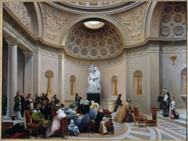 Lancelot-Théodore Turpin de Crissé (1782 † 1859) - Une messe à la Chapelle Expiatoire (1835 - Musée Carnavalet)