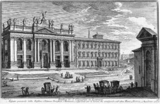 Basilique et palais du Latran avant 1735 par Giuseppe Vasi