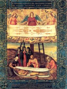 Le Saint Suaire de Turin - peinture sur toile de Gianbattista delle Rovere dit le Fiammenghino (1498 † 1578) - Turin