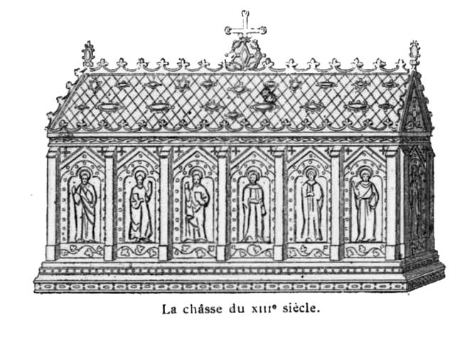 Châsse de sainte Geneviève par Bonnard, réalisée en 1242.