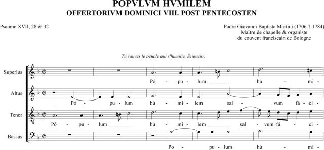 Padre Martini - Populum hominem - offertoire du VIIIème dimanche après la Pentecôte