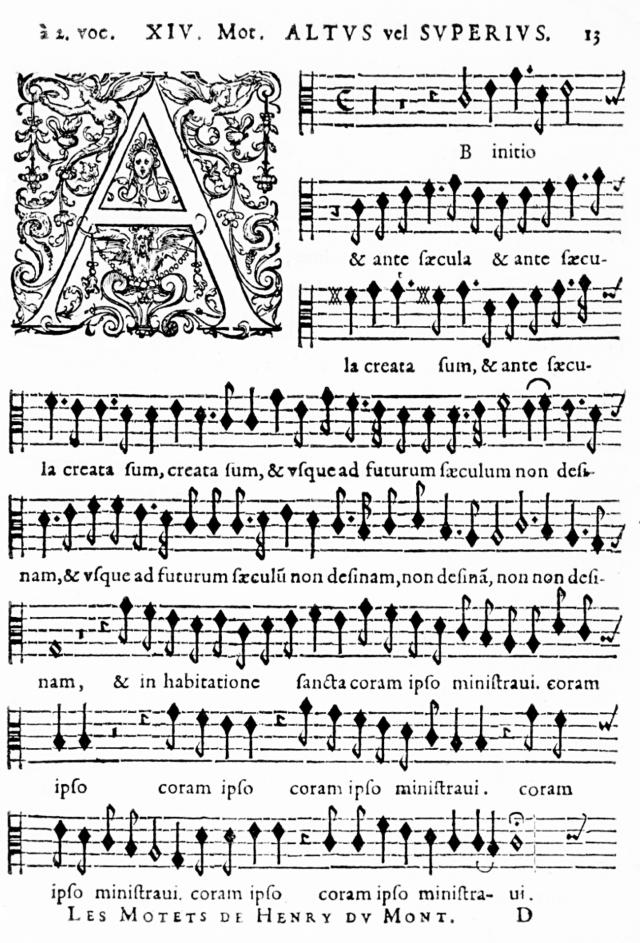 Ab initio et ante sæcula d'Henry du Mont - Cantica Sacra - édition de 1652