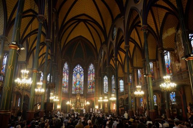 Un grand concours de fidèles était présent à cette messe.