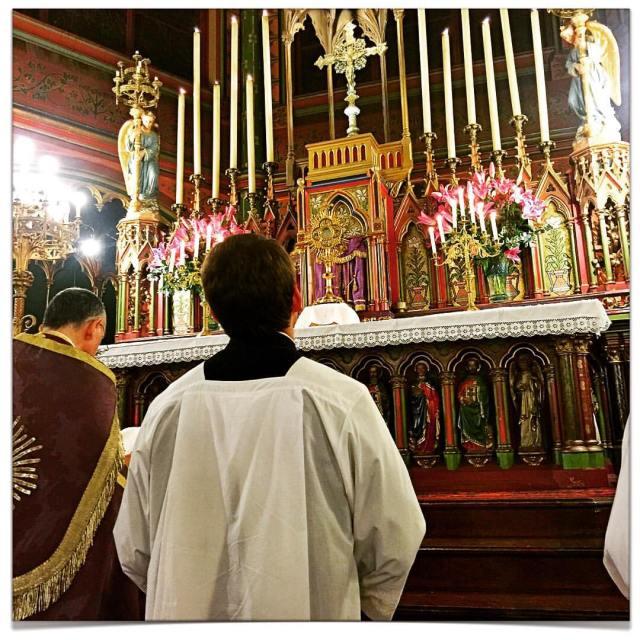 Salut du Très-Saint Sacrement après les secondes vêpres de la Sexagésime