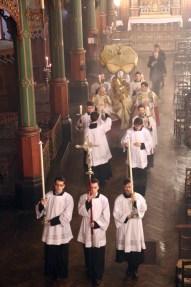 08-Messe d'exposition des Quarante-Heures - procession du Saint Sacrement