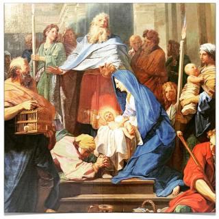 Jean Jouvenet (1644+1717) - la Purification de la Sainte Vierge et la Présentation de Jésus au Temple - 1692