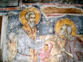 La communion de sainte Marie l'Egyptienne par saint Zosime