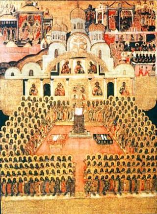 Programme du XVIIIème dimanche après la Pentecôte - Pères du concile de Nicée II - ton 1