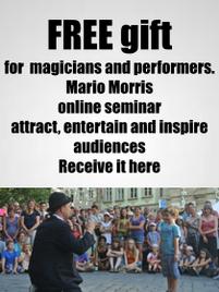 Free Seminar Mario Morris Street Performer
