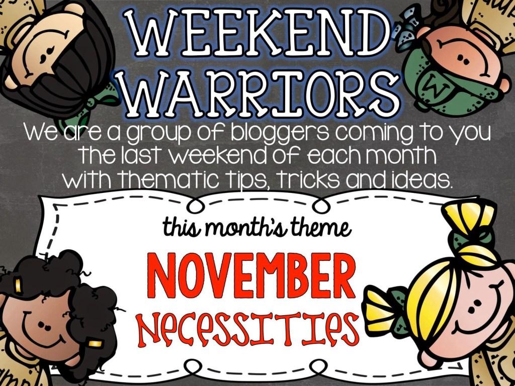 Weekend Warriors Necessity – MY WEEKLY CHECKLIST!