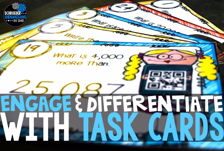 Task card ideas, task cards, engage and differentiate with task cards