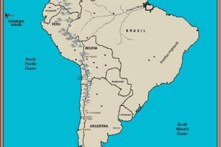 Map Of South America Bodies Of Water - Bodies of water us map