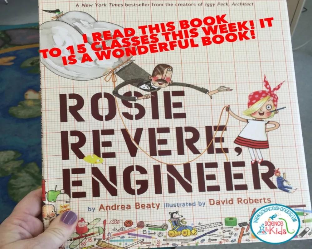 Rosie Revere Engineer…Well boys get Mustaches