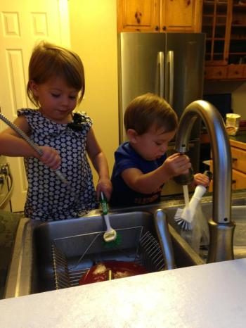 Evan & Jasmine, the Industrious Dishwashers