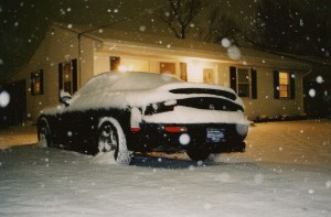 A few inches of early-season snow?  What better day to take a twin-turbo RX-7 with balding summer tires out for a 1500 mile road trip?