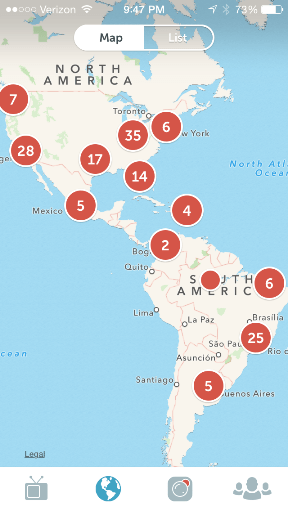 The map view shows you who's scoping all around the globe.