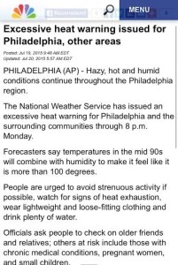 TL;DR - the gist? HEAT WARNING. Grab your personal belongings and run to the nearest air conditioner unit!