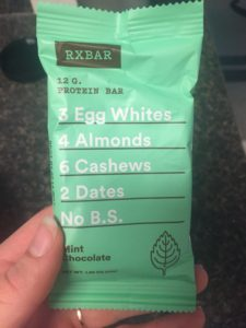 Rx bars are great because of their simple ingredient list!