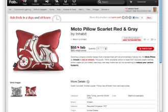 Fab scooter pillow sale