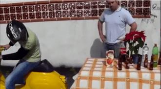 Vespa Tablecloth Trick
