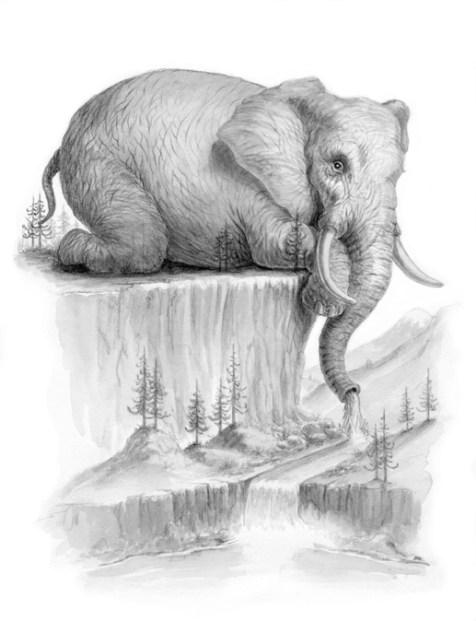 L'eau de LaVasseur - Pencil and Watercolor