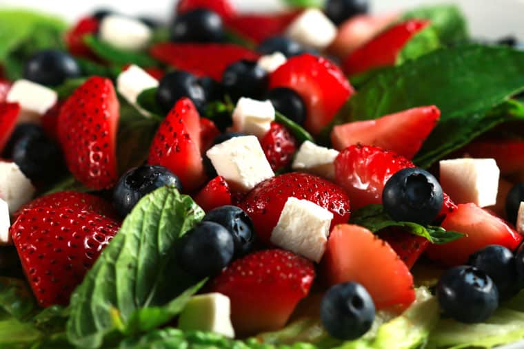 Delicious Strawberry and Feta Salad - This salad is SO fresh and ...