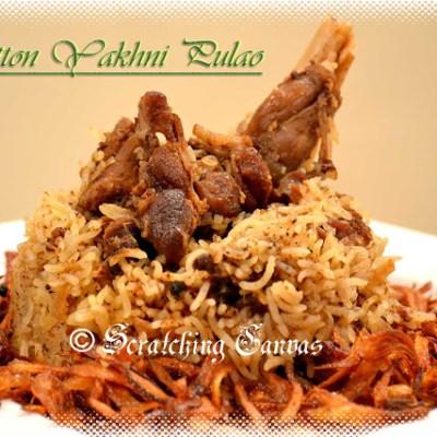 Mutton Yakhni Pulao or Pilaf