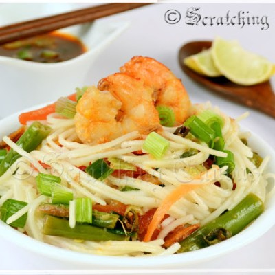 Quick and Easy Ginger Shrimp Noodles