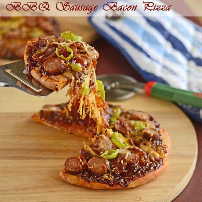 BBQ Sausage & Bacon Pizza