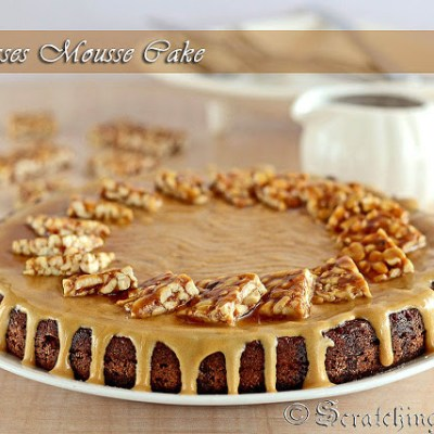 Coconut Molasses Mousse Cake or Nolen Gurer Cake