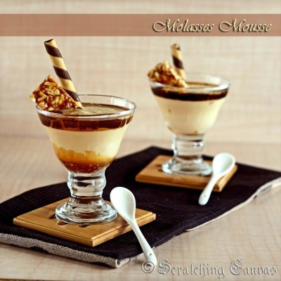No Cook No Bake Molasses Mousse | Eggless Nolen Gurer Mousse