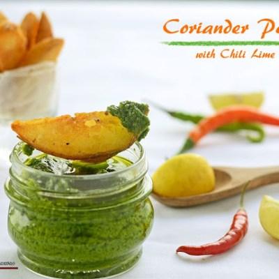 Green Coriander Pesto with Chili Lime